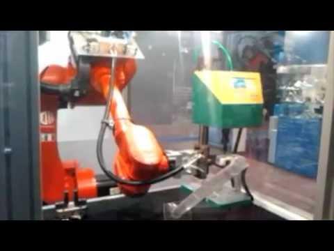 Marcatura automatica robotizzata - Robotized automatic marking BERMA COMAU WEBB