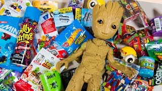 HUGE Baby Groot Surprise Toy Opening Guardians of the Galaxy Toys for Boys Superhero Kinder Playtime