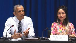 President Obama Meets Vietnam's Lady Gaga  Activist Mai Khoi