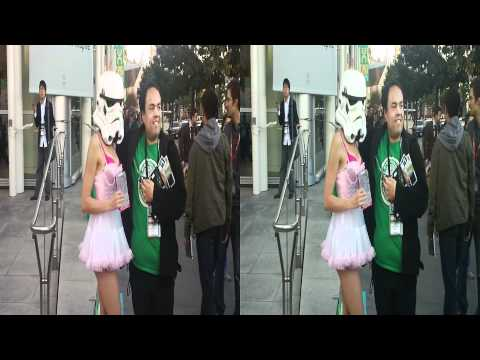 Storm Trooper Babe @ GDC San Francisco 2012 (YT3D:enable=true)