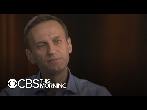 "Putin rival Alexey Navalny speaks out about how he was poisoned with a nerve agent on ""60 Minutes"""