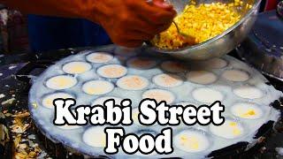 Thai Street Food Tour | Snacking on Street Food at Krabi Walking Street Night Market in Thailand