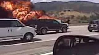 May 28, 2010 Trucker tank fire on 91 freeway in Corona