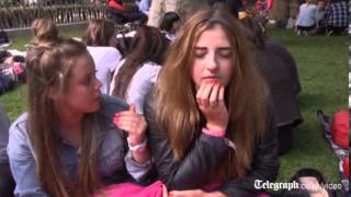 One Direction fans camp out in Leicester Square