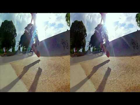 3D GoPro Hero2 120 fps twixtored to 2400 fps skateboarding