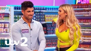 Love Island's Belle and Anton Get Into an Argument Over Some Baked Beans! | Supermarket Sweep