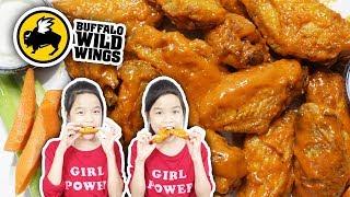 ASMR SPICY GARLIC BUFFALO CHICKEN WINGS - NO TALKING | Tran Twins EATS