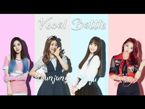 Wendy (Red Velvet) VS Yeunjung (WJSN) VS Yuju (Gfriend) VS Jihyo (Twice) -Vocal Battle (B4 - F#5 )