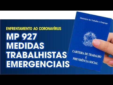 Imagem MP 927/2020 - Novas Medidas Trabalhistas para Enfrentamento ao Coronavírus.