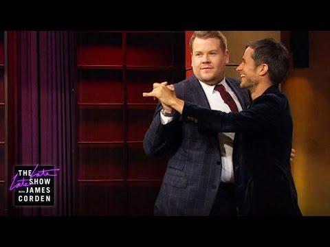 Gael Garcia Bernal Teaches James to Salsa