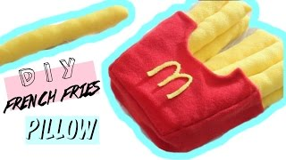 DIY Room Decor • 🍟French Fries Plushie 🍟(No Sew) • heartcindy