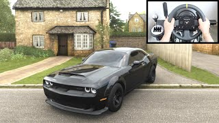 Forza Horizon 4 Dodge Demon vs Police Chase (Thrustmaster Steering Wheel) Gameplay