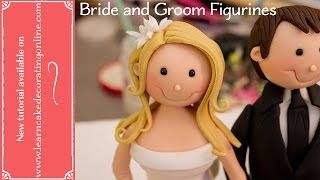 How to make Bride and Groom Cake Toppers