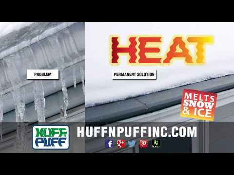 Gutter Helmet with Helmet Heat from Huff 'N Puff