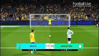 PES 2018 | BRAZIL vs ARGENTINA | Penalty Shootout | NEYMAR vs MESSI