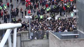 Spurs Fans Arriving to North London Derby
