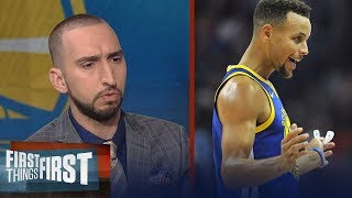 Nick Wright is shocked Steph didn't get suspended for throwing his mouthpiece | FIRST THINGS FIRST