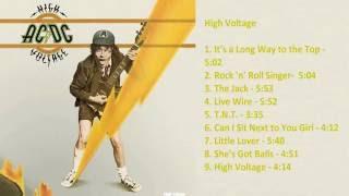 AC/DC - High Voltage [Full Album]