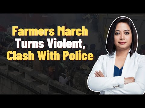 Farmers March Turns Violent, Clash With Police | Faye D'Souza