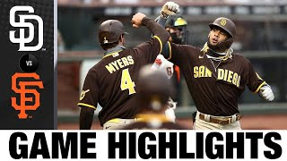 Tatis Jr., Myers power Padres past Giants   Padres-Giants Game Highlights 7/28/20