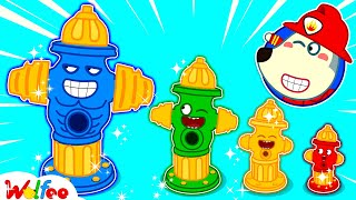 Firefighter Wolfoo Learns About Types of Fire Hydrants - Kids Playing Professions   Wolfoo Channel