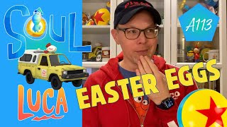 Easter Eggs in Pixar's Soul – Luca (Next Film), A113, Pizza Planet Truck, Luxo Ball & More