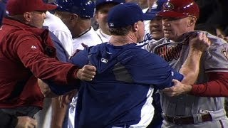 D-backs, Dodgers brawl twice in one night