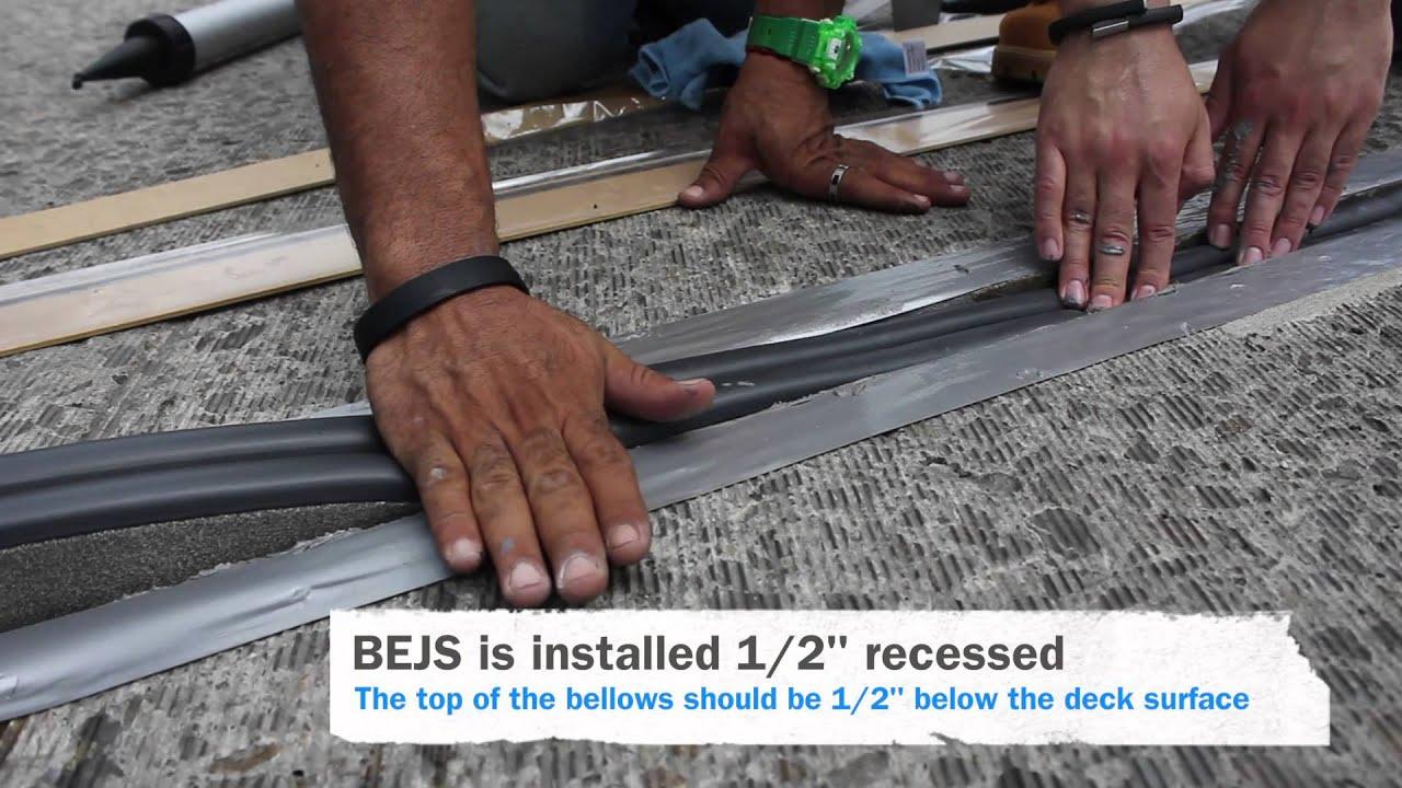 Emseal Bejs Installation Bridge Expansion Joint System