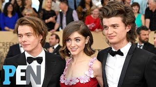 Stranger Things' Natalia Dyer Talks Fashion On SAG Awards Red Carpet | PEN | Entertainment Weekly