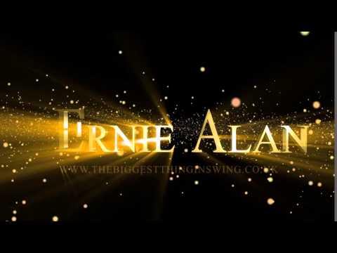 Animated logo intro for Ernie Alan - Swing Singer