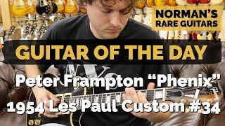 "Guitar of the Day: Peter Frampton ""Phenix"" Gibson 1954 Les Paul Custom #34 
