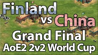 AoE2 2v2 World Cup | China vs Finland | Grand Finals