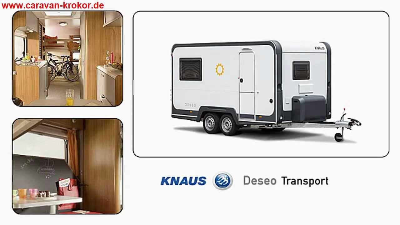 knaus deseo transport wohnwagen caravan motorrad youtube. Black Bedroom Furniture Sets. Home Design Ideas