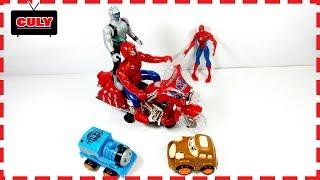 Đồ chơi Siêu nhân người nhện lái xe moto spierman drive motobike toy for kids