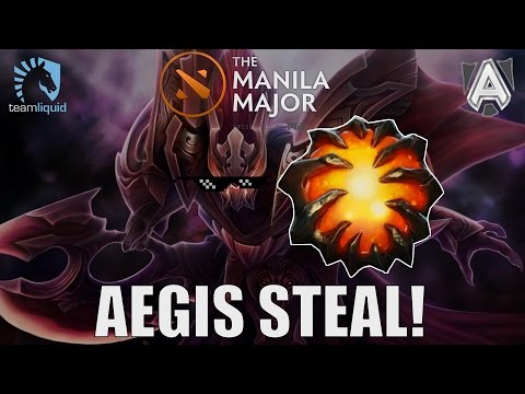 MATUMBAMAN's SICK AEGIS STEAL @ Manila Major 2016 (Liquid v Alliance Game 1)