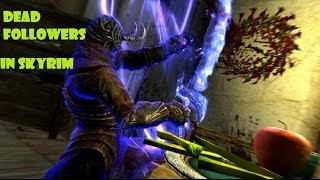 Skyrim- dead thrall (level 90 master conjuration