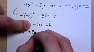 Prealgebra - Part 30 (Evaluating Variable Expressions)