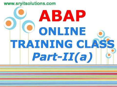 SAP ABAP ONLINE TRAINING | ABAP LIVE DEMO | SABAP TRAINING VIDEO | ABAP OVERVIEW