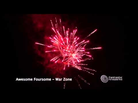 Fantastic Fireworks Awesome Foursome - 19 Shot Cake Selection (4)