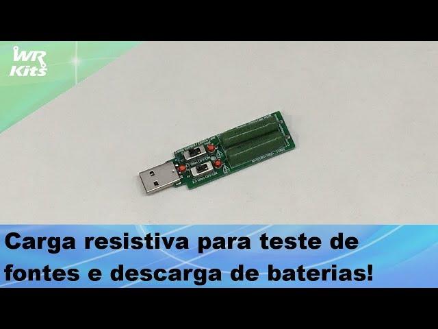 CARGA RESISTIVA PARA FONTES USB (REVIEW)
