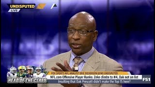 Eric Dickerson react to Player Ranks: Zeke climbs to #4, Dak not on list