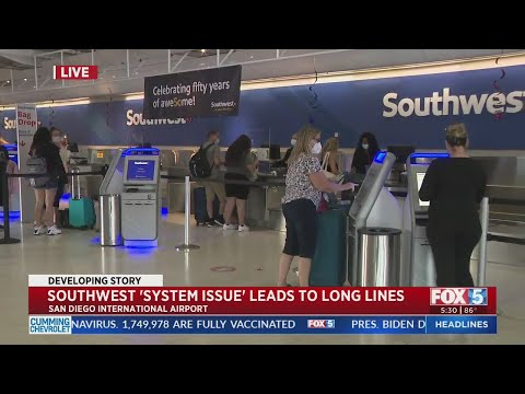 Southwest Issue Leads To Long Lines At Airport