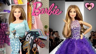 Barbie Doll Travel Morning Routine & Fashion Show Toy Video