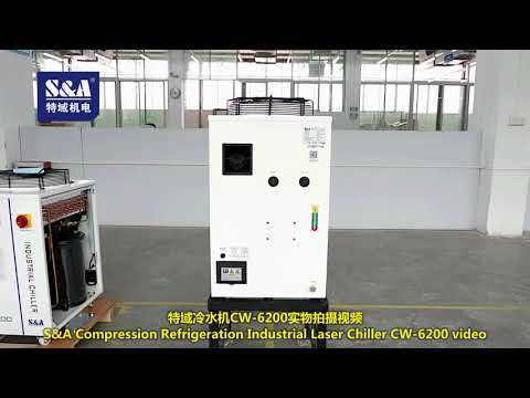 S&A Compression Refrigeration Industrial Laser Chiller CW-6200 video