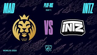 MAD Lions vs INTZ e-Sports Club - Worlds 2020 S1D1P1 - Play-in