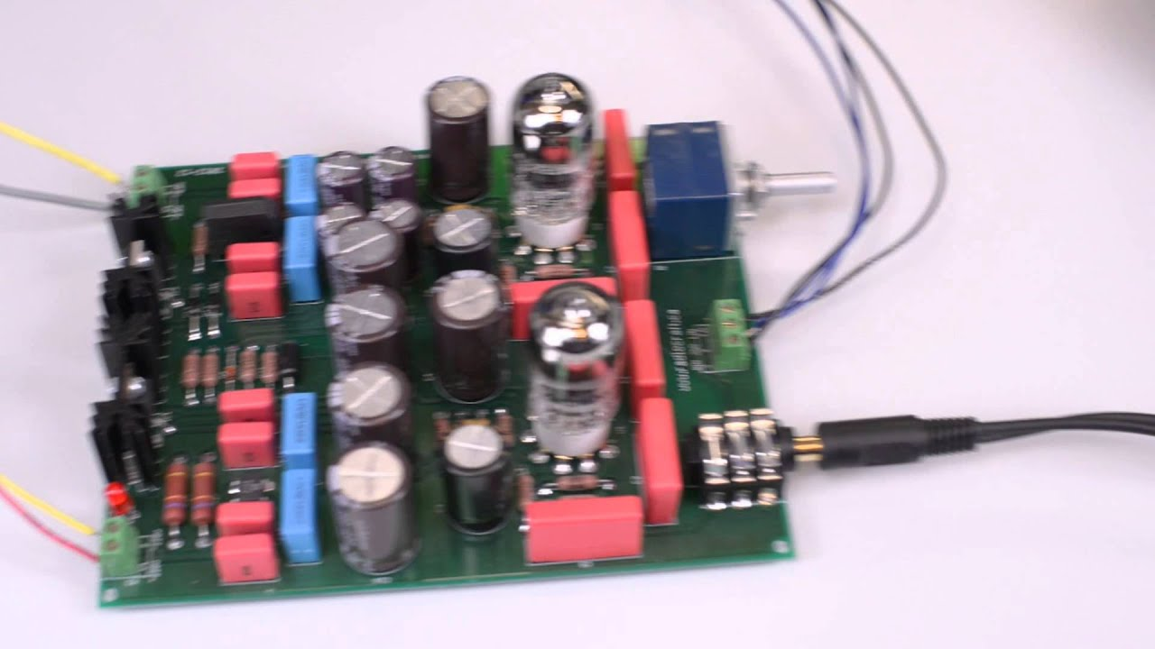 6922 DIY Tube Headphone Amplifier Amp Kit Corvette - YouTube