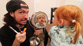 Daddy gives Adley a Makeover!!