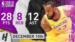 LeBron James EPIC Highlights Lakers vs Heat 2018.12.10 - 28 Pts, 8 Reb, 12 Assists