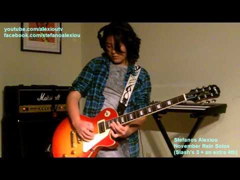 Baixar Guns N' Roses - November Rain Solo (All Slash's 3 + extra 4th solo by Stefanos Alexiou)