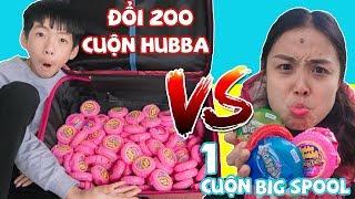 Đổi Kẹo Big Spool Vs Kẹo Hubba bubba -100% Nhí Nhố, Bài Học Cho Bé ❤ Chị Hằng TV